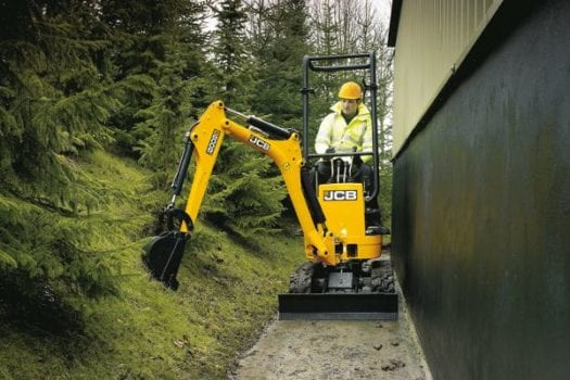 JCB 8008 Mini Excavator Tight Access