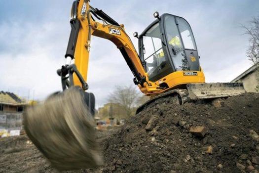 JCB 8025 Mini Excavator Zero Tail Swing ZTS
